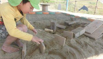 自然素材であそぶ 砂