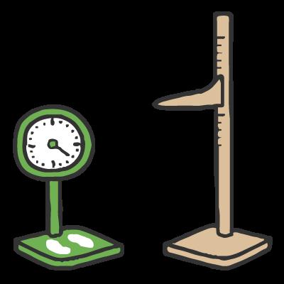 身体測定 毎月の行事